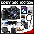 Sony Cyber-Shot DSC-HX400V Wi-Fi Digital Camera with 32GB Card + Case + Battery/Charger + Tripod + 3 Filters Kit