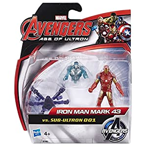 Marvel Avengers Age of Ultron Iron Man Mark 43 vs Sub-Ultron 001 Action Figure Pack