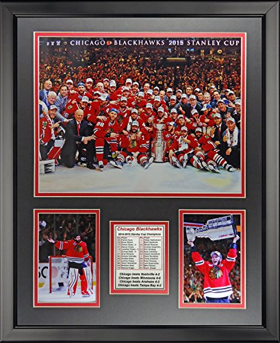 "Legends Never Die Chicago Blackhawks 2015 Stanley Cup Champions Celebration Display Photo Frame, 16"" x 20"""