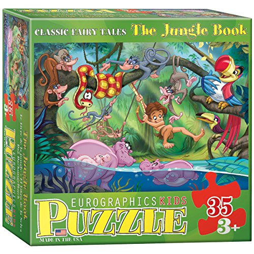 EuroGraphics 35-Piece Classicic Fairy Tales The Jungle Book Puzzle