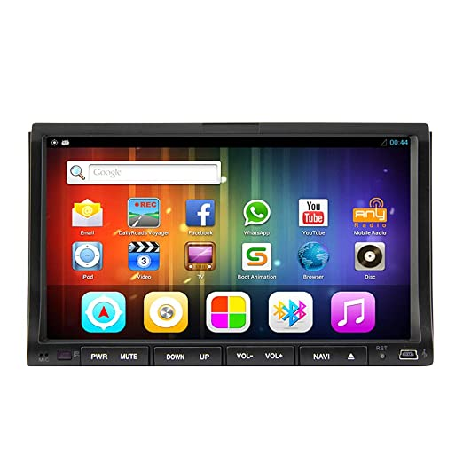 """Rungrace Autoradio Lecteur DVD Universel Android 4.2 7"""" Multi-Touch avec WIFI, GPS, RDS, iPod, Bluetooth (RL-203AGNR"""
