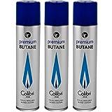 Colibri Premium Butane Fuel Refill for Lighter 3 Small Cans