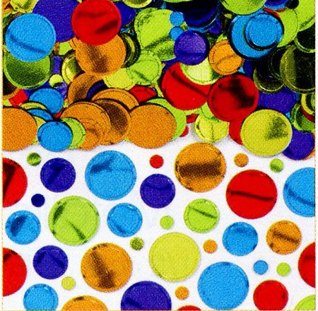 Amscan Metallic Dots Confetti, 2 1/2 oz., Multicolor