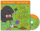 Julia Donaldson One Mole Digging A Hole Book and CD Pack
