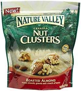 Nature Valley Granola Nut Clusters, Roasted Almond, 5-Ounce Pouches (Pack of 5)