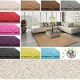 Floori Shaggy Hochflor Teppich - 200x290cm - beige/creme