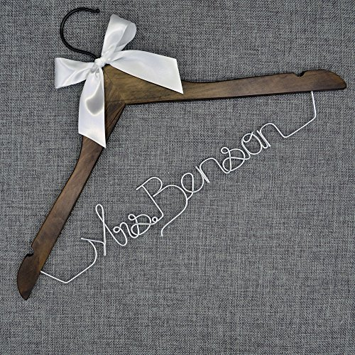 Custom Wedding Last Name Hanger ,Maid of Honor,Personalized Bridal Dress Hanger