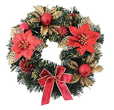 Ready Decorated Red Christmas Wreath