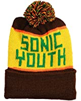 Sonic Youth Men's Custom Knit Hat Beanie Brown