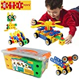 ETI Toys -90 Piece Educational Construction Engineering Building Blocks Set for 3, 4 and 5+ Year Old Boys & Girls. Pure Engaging Fun & STEM Learning Kit! The Best Toy Gift for Kids Ages 3yr - 6 yrs.