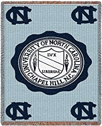Univ of North Carolina Chapel Hill - 69 x 48 Blanket/Throw - North Carolina Tar Heels - UNC
