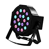 Missyee Up Lighting 18 Leds RGB Stage Lights,Sound Activated DMX 512 Controller Dj Par Can Lights for Birthday Party Wedding Bar Club Home Festival (1 pack) (Color: Brown)