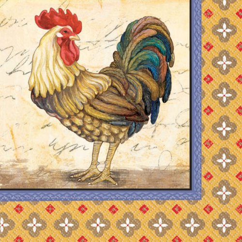 Rooster Beverage Napkins (16 per package)