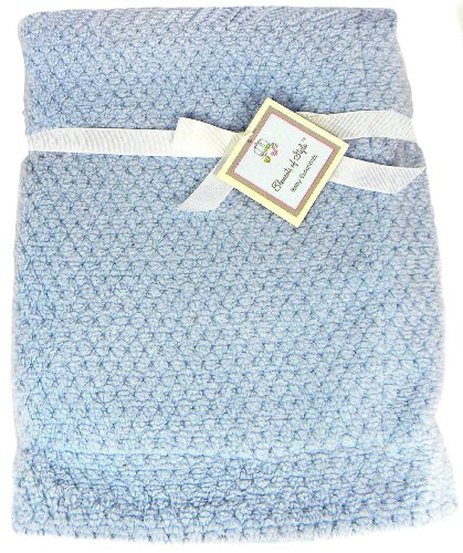 "Elements of Style Soft Baby Blanket - Blue - 30"" x 40"""