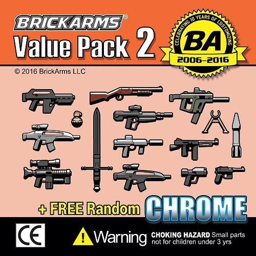 BrickArms-Value-Pack-2-15-pieces-Plus-Random-Chrome-Weapon-for-Minifigures