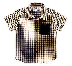Campana Blue & Yellow Checked Shirt Baby Boys