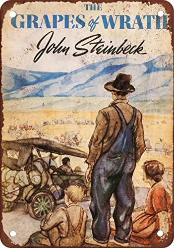 1939 The Grapes of Wrath First Edition Vintage Look Reproduction Metal Tin Sign 8X12 Inches (Grape Soda Sign compare prices)
