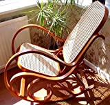 NEW HONEY BENTWOOD ROCKING CHAIR BIRCH WOOD & RATTAN THONET LIVING BED ROOM CONSERVATORY MATERNITY