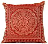 Exotic Oriental Pillow Cover, Set of 2 (Red)