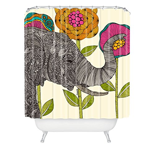 Deny Designs Valentina Ramos Aaron Extra Long Shower Curtain, 71 By 94-Inch front-389146