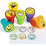 German Trendseller® - 6 x Tampons avec encre intégrée que┃Smiley┃ les enfants