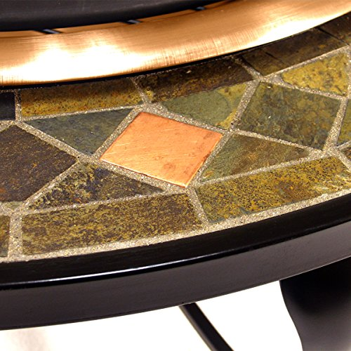 Catalina-Creations-40-Round-Heavy-Duty-Mosaic-Patio-Fire-Pit-with-Copper-Accents-Spark-Screen-and-Accessories