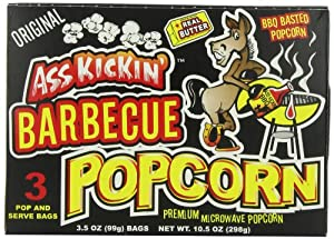 Ass Kickin' Bbq Popcorn, 3.5-Ounce Boxes (Pack of 6)