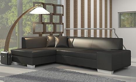 Ecksofa Fabian mit Bettfunktion Eckcouch Sofa Couch Schlafsofa 01538