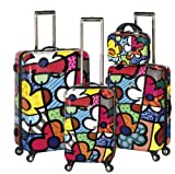 Heys USA Luggage Britto Flowers Hard Side 4 Piece Luggage Set, Multi-Colored, One Size