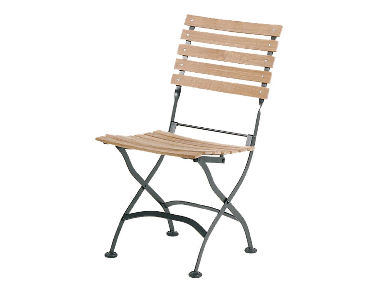 Siena Garden GFA-COC-001447 Klappstuhl Peru II, 54 x 44 x 85 cm, Flächenfarbe teak, Flachstahlgestell schwarz verzinkt günstig bestellen