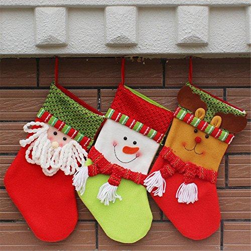 Festa di Natale Decorazioni di Natale regalo Decor?accogliente romanticismo di Natale a tutti è di cadere in amore con nel 2016,borsa regalo di Natale,Calzini 15*32*19.5cm pupazzo di neve