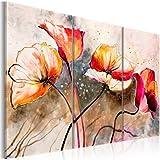 Grand Format Impression sur toile Images 3 Parties fleurs Tableau 22353 120x80 cm B&D XXL