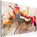 Impression sur toile 120x80 cm - Grand format - XXL - 3 Parties - Image sur toile - Images - Photo - Tableau - motif moderne - Décoration - pret a accrocher - Fleurs 22353 120x80 cm B&D XXL...