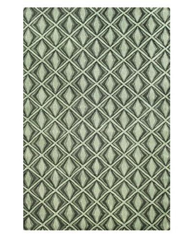 Bashian Wool Tufted Rug, Emerald, 5' x 7' 6
