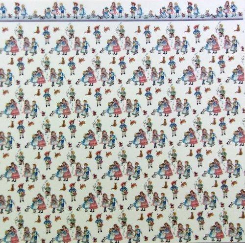 Puppenhaus Tapete Kinderzimmer : Chase – Puppenhaus Miniatur Tapete Bedruckt Kinderzimmer Cremefarben 1
