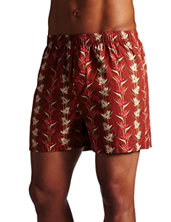 Tommy Bahama Mens Dragon Flower Boxer, Saffron/Multi, XX-Large