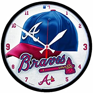 MLB Atlanta Braves Round Clock by WinCraft