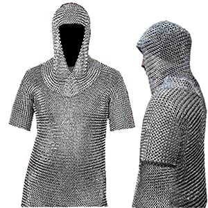 Amazon.com: Medieval Chain Mail Shirt and Coif Armor Set (Full Size