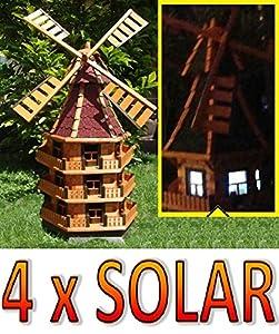 Btv wmb160ro ms moulin vent d coratif pour jardin avec for Moulin a vent decoration jardin