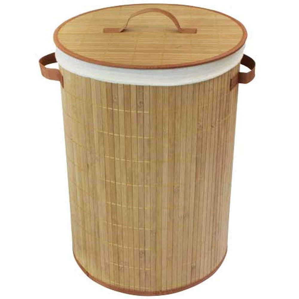 Decorative laundry hamper with lid uk - Bamboo clothes hamper ...