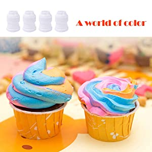 30 Pack Plastic Standard Couplers Icing Nozzles Pipe Tip Couplers Cookie Making Accessory Tools for Cake Decorating