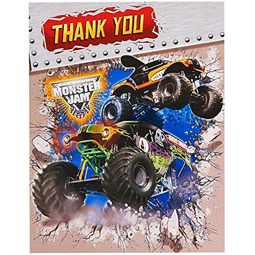 Pary Destination 228218 Monster Jam 3D Thank-You Notes