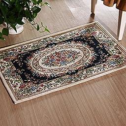 XH@G Floor mats carpet rug anti-slip mats sofa kitchen absorbent pad , deep blue , 60*90cm