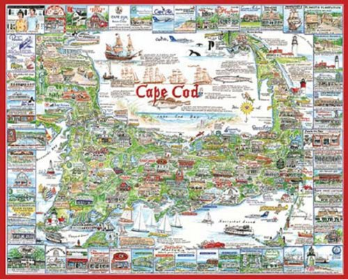 White Mountain Puzzles Cape Cod, Massachusetts 1000 pieces Jigsaw Puzzle