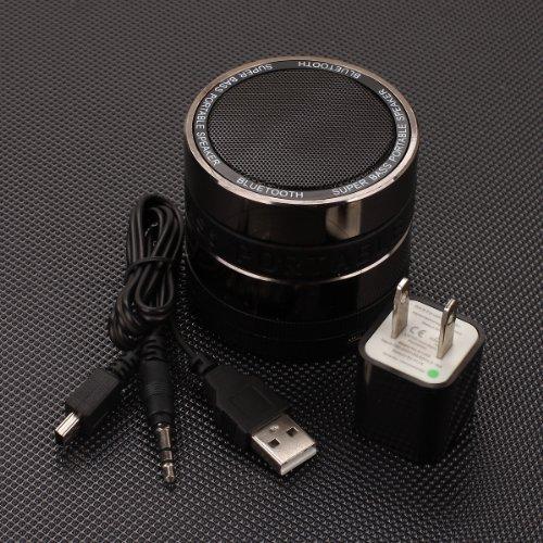 """Mini Bluetooth Speaker Fits Craig Wireless 7"""" Cmp748, Cmp749, Cmp756, Cmp741E, Cmp741 (Black And Metallic Chrome)"""