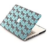 [3 IN 1]BELK Macbook Air 13 inch Case + Keyboard Cover + Screen Protector - Cute Zebra Mint Blue Hard Full-Body Protection Case for Macbook Air 13""