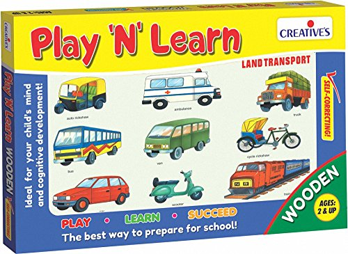 Creative Educational Aids Private Limited Creative's Play 'N' Learn Land Transport, Multi Color