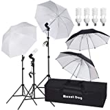 MOUNTDOG PHOTOGRAPHY STUDIO PHOTO VIDEO LIGHT 800W UMBRELLA KIT DE ILUMINACIÓN DE DÍA DE RETRATO CONTINUO