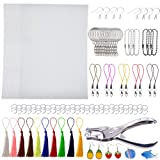 Terokota 180Pcs Shrink Plastic Sheet Kit Includes 30 Pcs Shrink Film Paper with Shrinky Art Paper Keychains, Hole Punch, Tassels, Ear Hooks & Claps for Kids Creative DIY Crafts (Tamaño: 180Pcs-14.5×20cm/W×H-Fine Grinding)