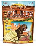 Zukes Z-Filets Healthy Grain-Free Filets for Dogs, Grilled Chicken Recipe, 3.25-Ounce